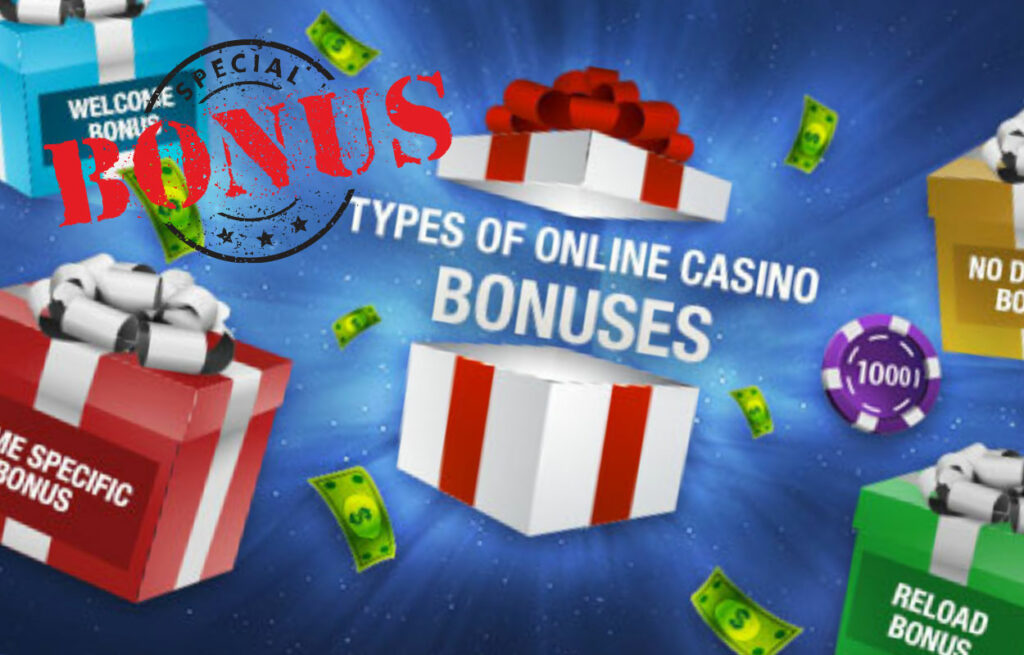 types of bonuses available at online casinos